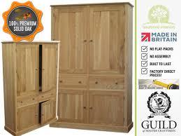 Kitchen Cabinets Made To Order Solid Oak 4 Door Larder Pantry Shelving Kitchen Cabinet Made
