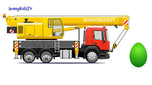 trucks for kids crane truck surprise eggs learn sweets candies