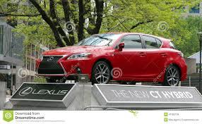 lexus toronto downtown rood lexus hybrid redactionele stock afbeelding afbeelding 41355134