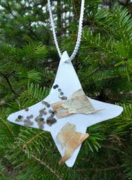 nature craft birch bark ornaments play cbc parents