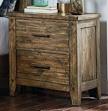Rustic Pine Nightstand Rustic Casual Pine 6 Piece Queen Bedroom Set Nelson Rc Willey