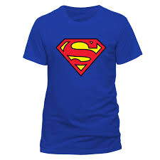 dc men u0027s superman logo crew neck short sleeve t shirt amazon co