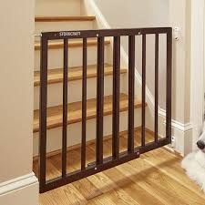 Safety Gates For Stairs With Banisters Storkcraft Easy Walk Thru Wooden Safety Gate U0026 Reviews Wayfair