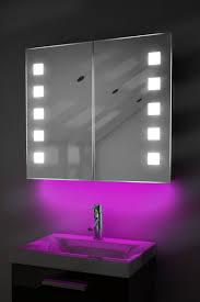 ambient demist bathroom cabinet with sensor u0026 internal shaver