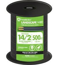 southwire 250 ft 10 2 black stranded cu low voltage landscape