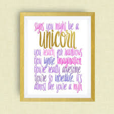 themed signs unicorn wall signs you might be a unicorn print option of
