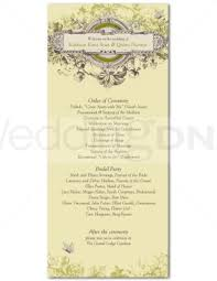 vintage wedding programs printable vintage wedding program template
