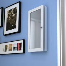 wall mirror jewelry cabinet white mirrored jewelry cabinet armoire mirror organizer wall mount