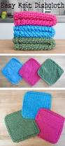 easy knit dishcloth 3 steps with pictures