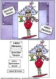 goodbye tension hello pension stella says goodbye tension card cup216915 1209 craftsuprint