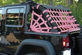 white and pink jeep dirty dog 4x4 spider netting 3pc kit 4 door pink