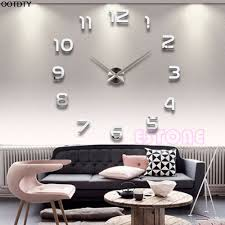 compare prices numbers wall online shopping buy low price new fashion large number wall clock diy mirror sticker home decor art modern china