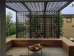 pergola privacy screen made using decorative screens these are