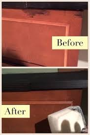 can you use magic eraser on cabinets magic eraser vs wood stain diy danielle