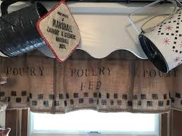 Primitive Curtians by Primitive Curtains Poultry Feed Burlap Valance Feed Sack Curtains