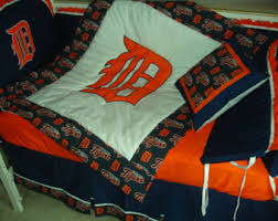 Detroit Tigers Crib Bedding Detroit Tigers Baby Etsy