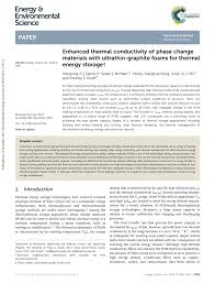 enhanced thermal conductivity of phase change materials with