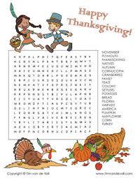 thanksgiving word search tim s printables