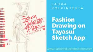 fashion sketching with tayasui sketch app on ipad youtube