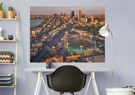 boston red sox fenway park skyline mural wall decal shop boston red sox fenway park skyline fathead wall mural