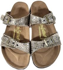 birkenstock brown snake print papillio arizona sandals size us 8