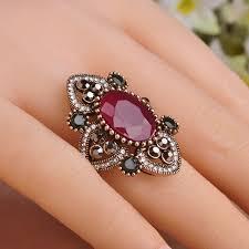 antique design rings images Vintage turkish finger rings flowers design antique gold colorfull jpg