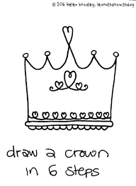 how to draw a crown in 6 steps learn to draw