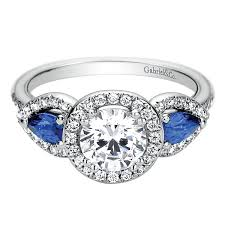 sapphire halo engagement rings blue sapphire halo engagement rings gabriel co