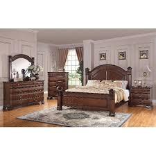 dark pine traditional 6 piece queen bedroom set isabella rc