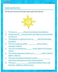 soak up the sun solar system worksheets jumpstart