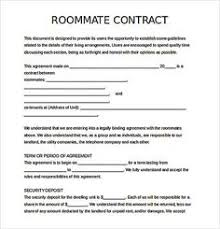 free roommate agreement template roommate contract document how to create your own roommate