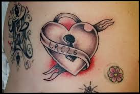 traditional heart locket tattoo on stomach photo 3 2017 real