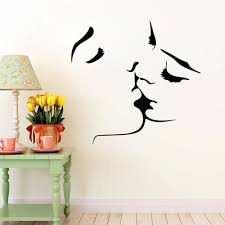 Decoration Kids Wall Decals Home by Wall Stickers For Kids Room Home Decorations Kissing Couples