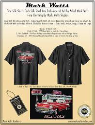 Custom Embroidery Shirts Mark Watts Retro Americana Shirts Highest Quality 100 Silk