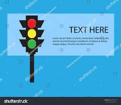 traffic lights blue text here template stock vector 724786747