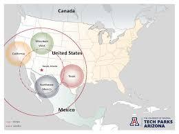 University Of Arizona Map Tech Parks Arizona Provide Technology Businesses Global Advantage