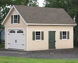 barns duratemp frame two story one car garage custom order house