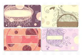 abstract ornate business card templates vector image 20280
