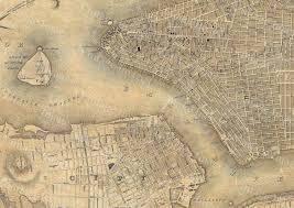 Map Of Old New York by Giant Vintage New York City Map Old Antique Restoration Hardware