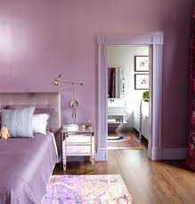 monochromatic decorating bedroom contemporary with light violet