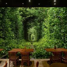 green wallpaper room large custom murals wallpaper green tunnel nature landscape 3d mural