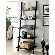 interior leaning ladder shelves wooden shelf ladder white