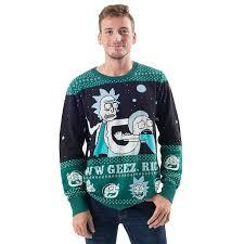 christmas sweater rick and morty aww geez rick christmas sweater