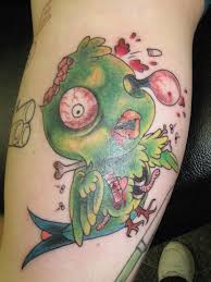 bird tattoo on arm scary and ugly zombie bird tat cool tattoos online