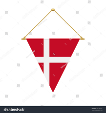 Flag Hanging Flag Design Danish Triangle Flag Hanging Stock Vector 661757761