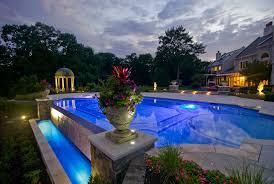 low voltage lighting near swimming pool modern low voltage led landscape lighting fiber optic zero edge pool