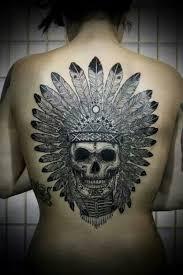 44 indian chief skull tattoos