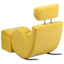 ottoman yellow fabric kids rocker gaming chair w storage ottoman