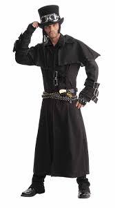 amazon com men u0027s steampunk duster coat black one size costume