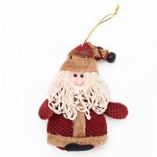 fabric santa claus ornaments cloth decoration